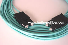 10Gigabit OM4 Aqua 50/125 Multimode SC to SC Fiber Optic Patch Cable