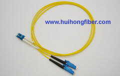 LC to E2000 Fiber Optic Patch Cable