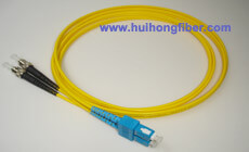 Single mode Duplex SC ST Fiber Optic Patch Cable