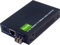 10/100/1000Base SFP Fiber Optic Media Converter